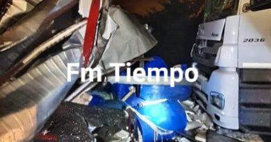 BARADERO- Choque múltiple sobre Ruta 9: 6 camiones y un automóvil involucrados