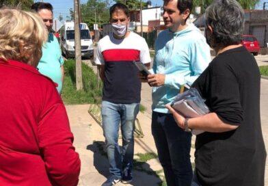 Matzkin intensifica su campaña puerta a puerta